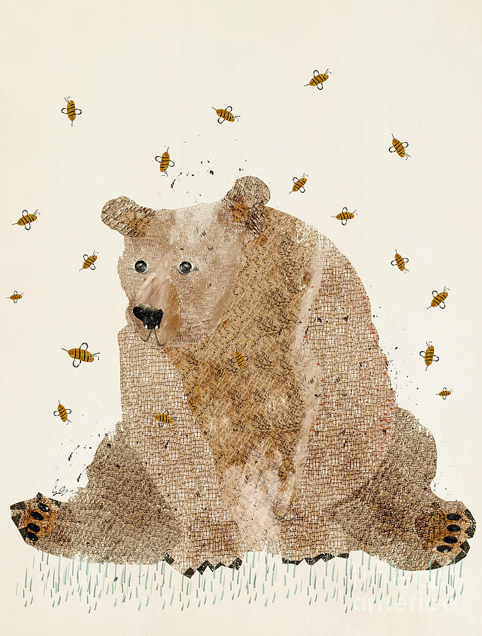 Bears Painting - Bear Grizzly  by Bri Buckley