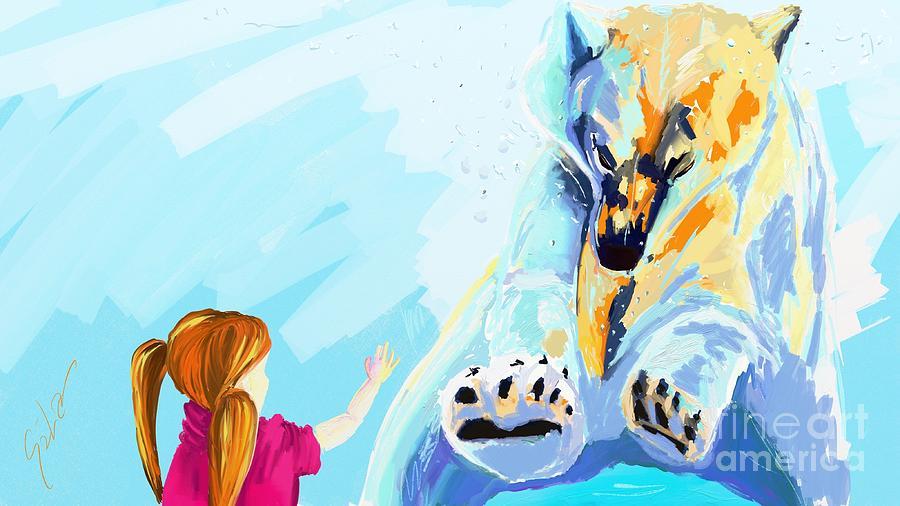 Animal Digital Art - Bear by Lidija Ivanek - SiLa