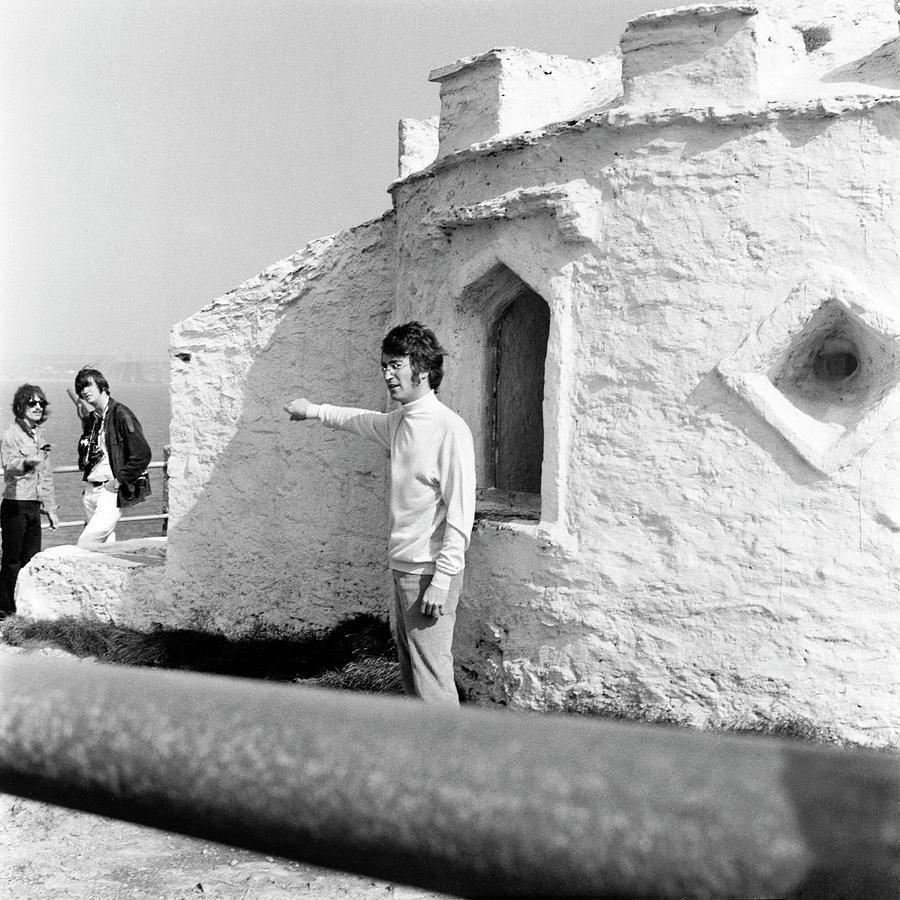 Beatles John Lennon Magical Mystery - square by Chris Walter