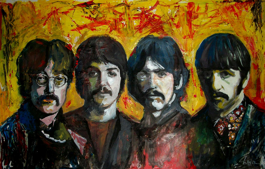 Beatles Painting - Beatles by Marcelo Neira