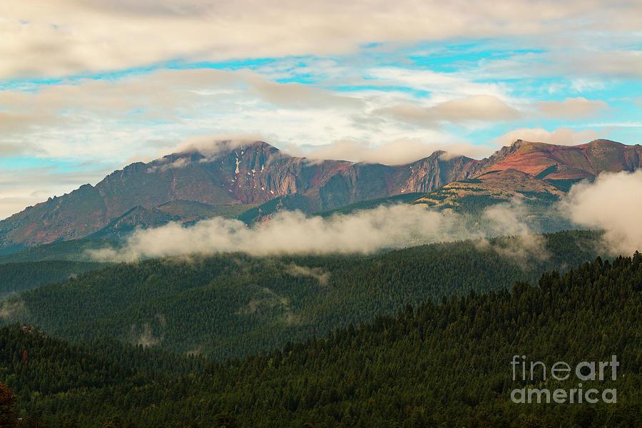 Beautiful Sunrise On Pikes Peak Colorado Photograph