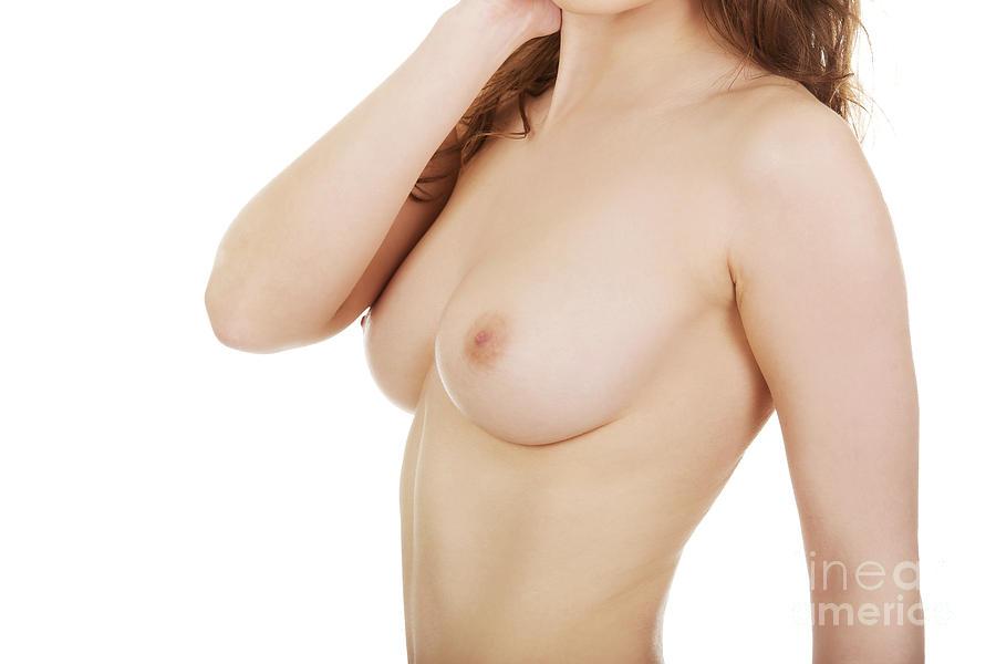 Female boobs in black bra bath towel for sale by piotr marcinski