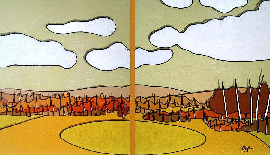 Landscape Painting - Beautiful Yellow Day by Jason Charles Allen