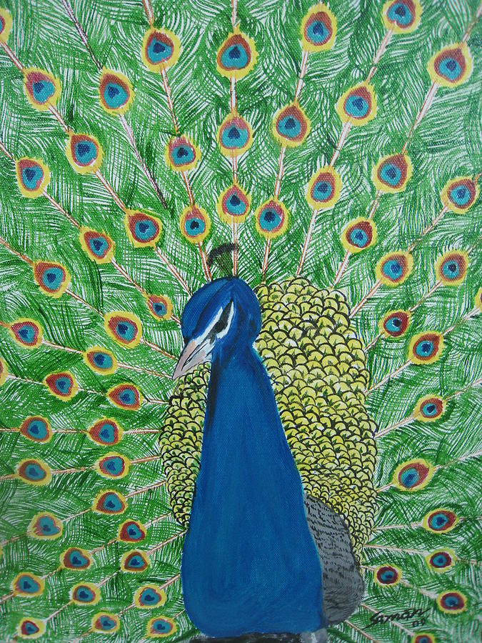 Wild Life Painting - Beauty With Elegance by Saman Khan