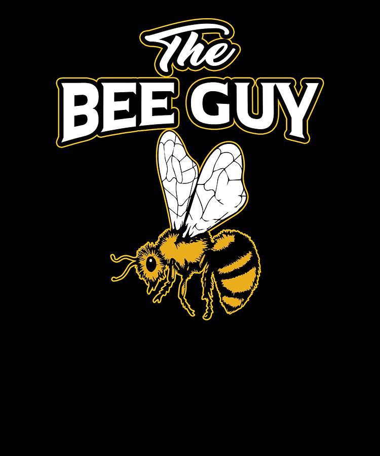 Beekeeper Funny Bee Guy Beekeeper Gift Drawing By Kanig Designs