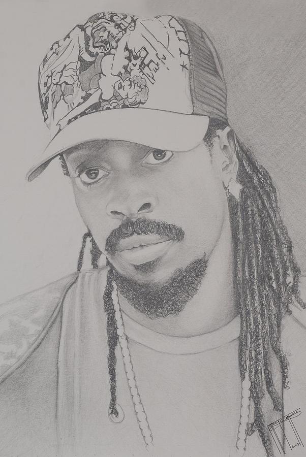 Beenie Man Drawing by Jeffrey Samuels