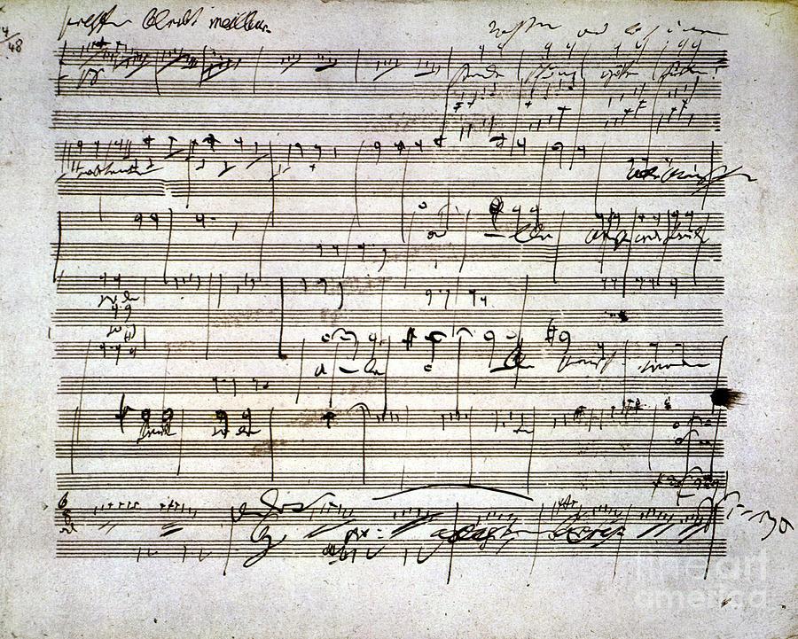 18th Century Photograph - Beethoven Manuscript by Granger