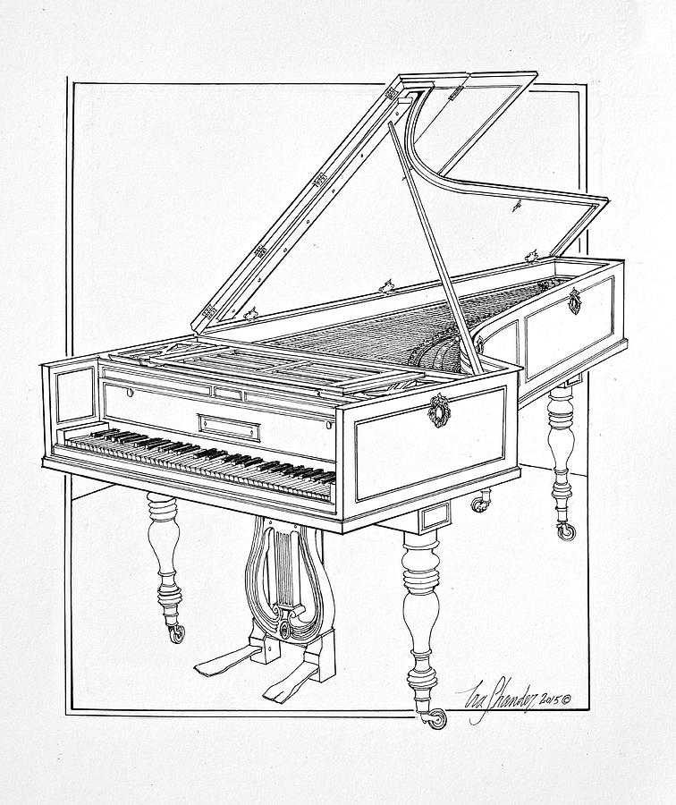 beethoven u0026 39 s broadwood piano number 7362 drawing by ira shander