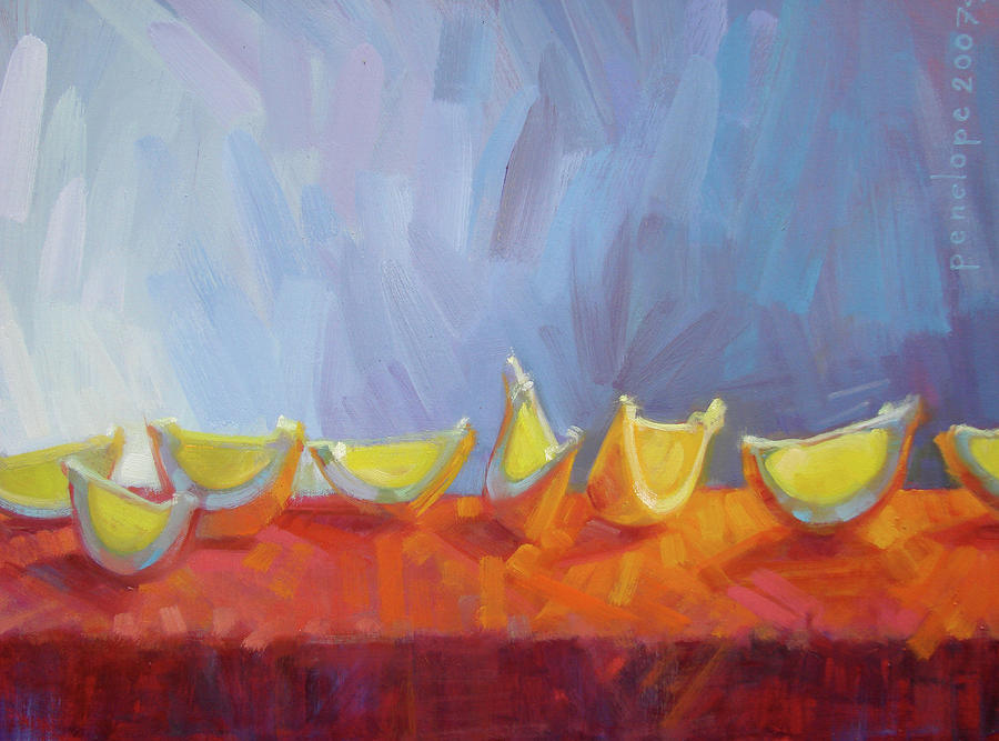 Still Life Paintings Painting - Behaving Beautifully by Penelope Moore