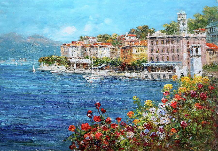 Bellagio Lake Como Italy Painting By Luigi Paulini