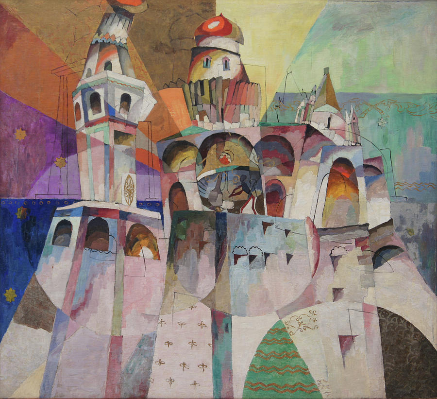 Bellringing. Ivan The Great Bell-tower. Painting by Aristarkh Lentulov