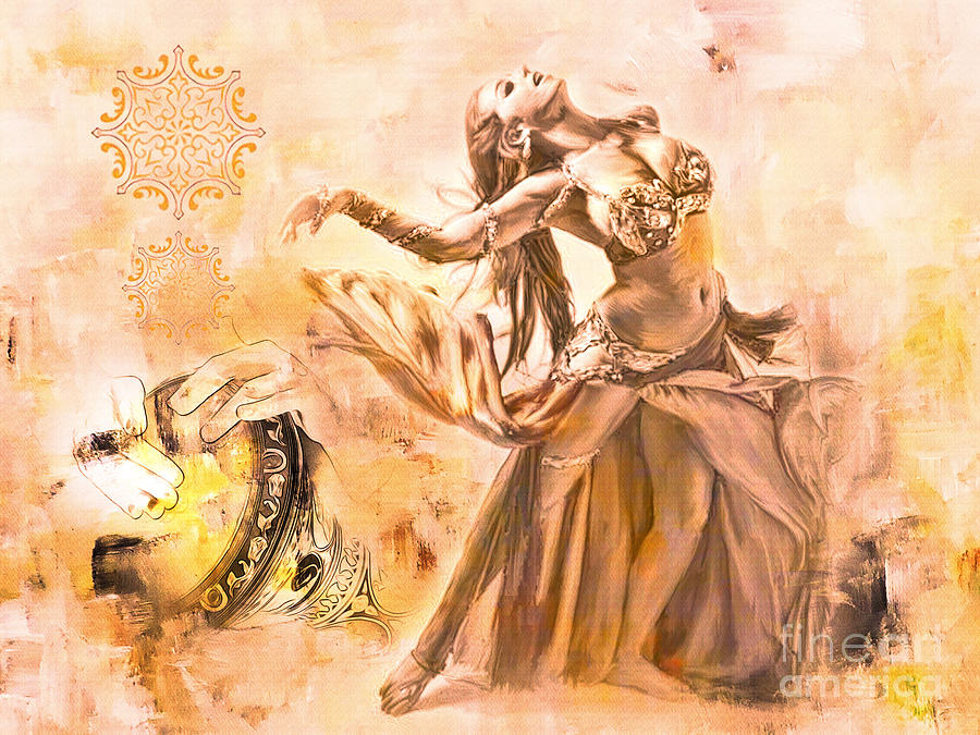 Belly Dance Painting By Gull G