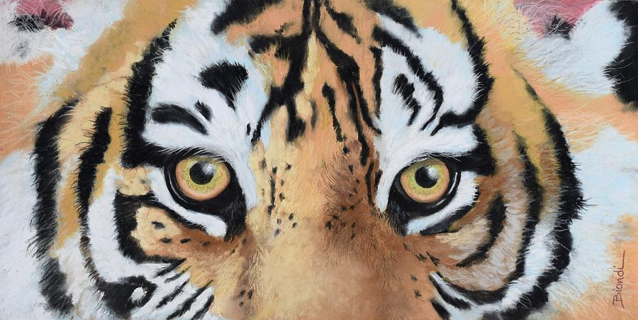 Tiger Painting - Bengal Eyes by Janet Biondi
