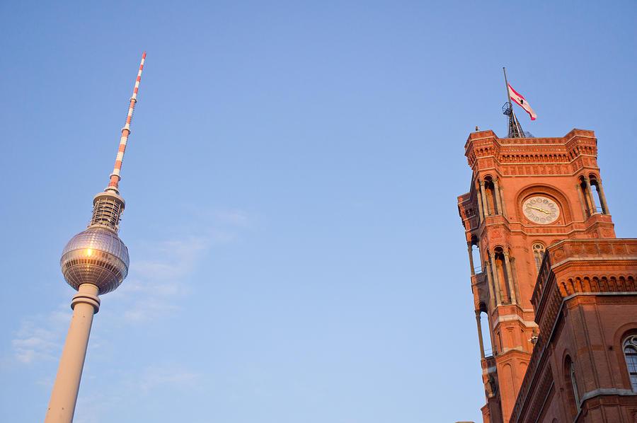 Alexanderplatz Photograph - Berlin Tv Tower by Tom Gowanlock