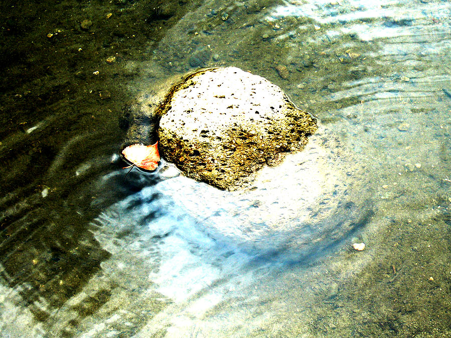 Rocks Painting - Beside Still Waters by Tim Tanis