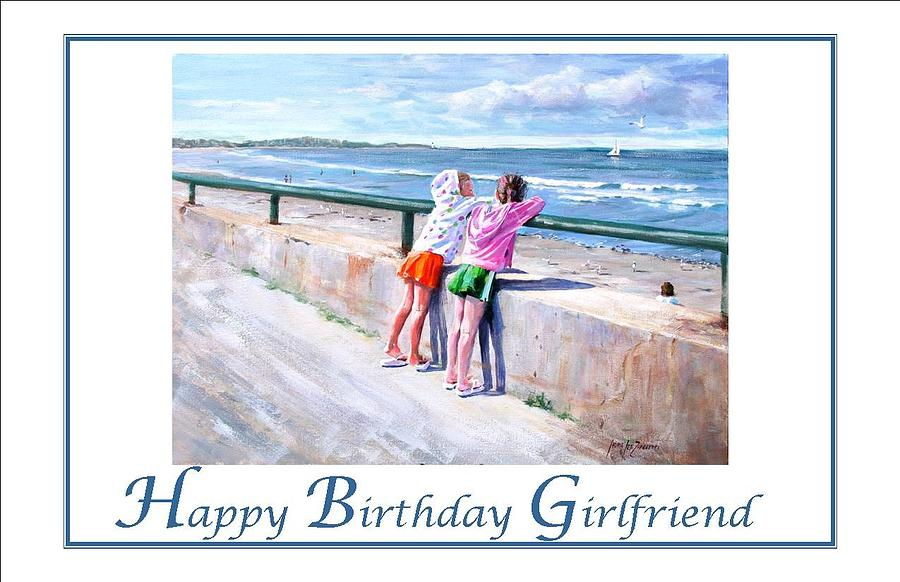 Nantasket Beach Painting - Best Friends by Laura Lee Zanghetti