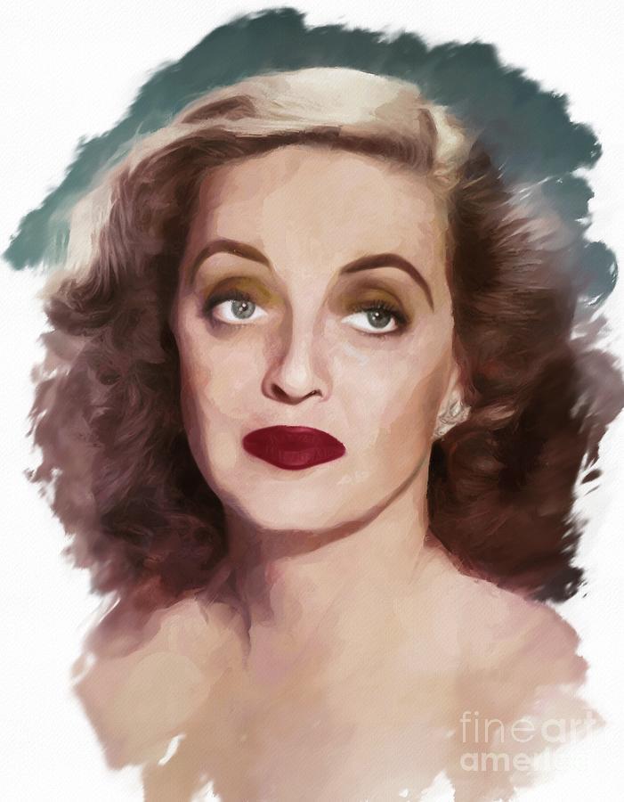 Bette Davis, Actress Painting