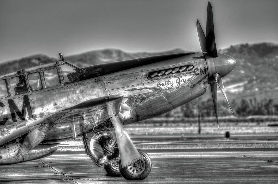P51 Photograph - Betty Jane P51d Mustang At Livermomre by John King
