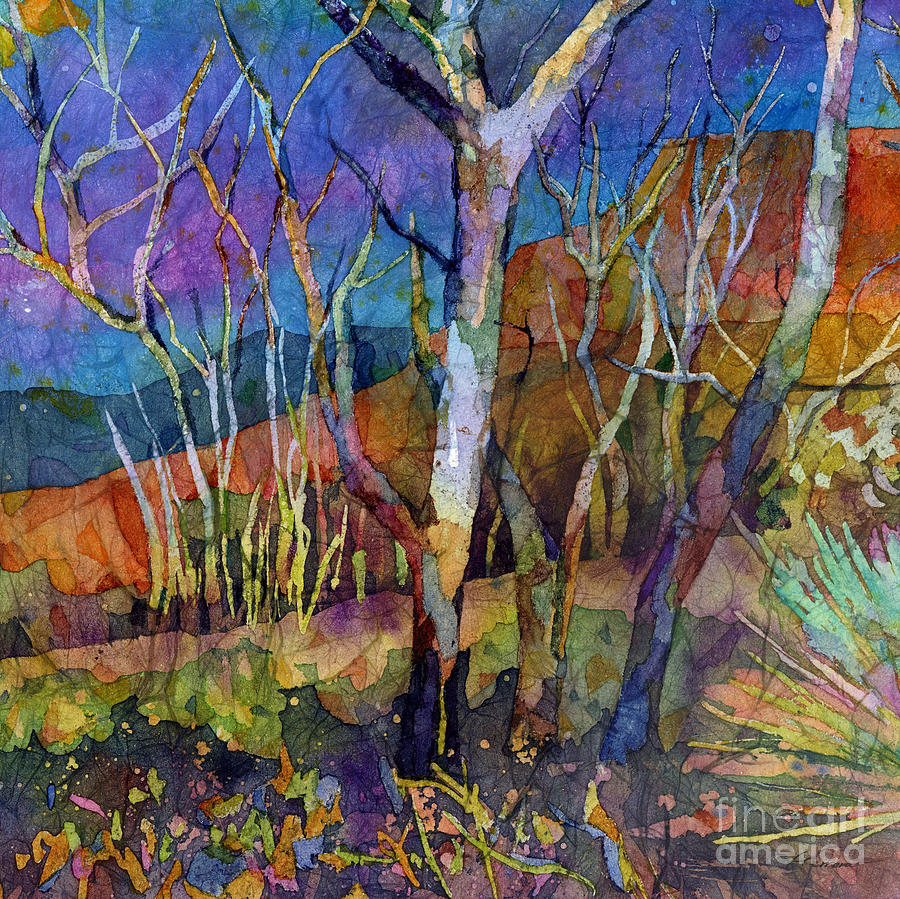 Trees Painting - Beyond The Woods by Hailey E Herrera