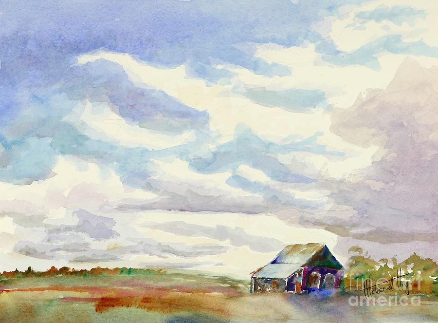 Painting Painting - Big Alberta Sky by Mohamed Hirji