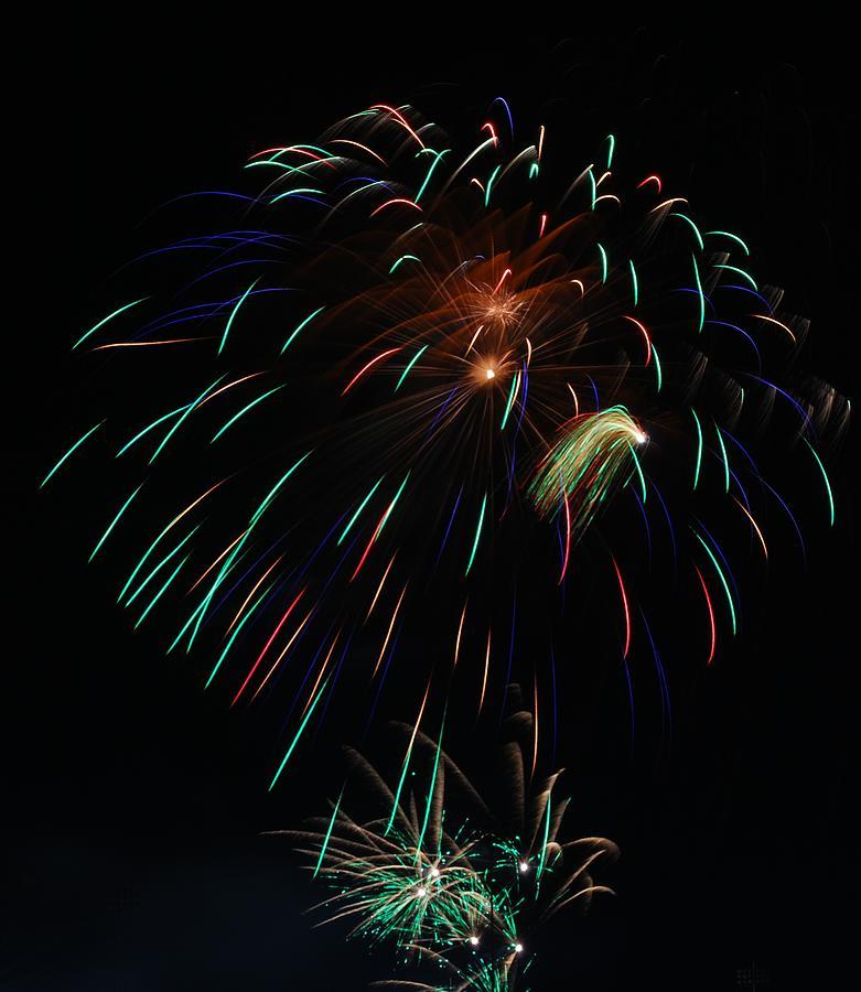 Fireworks Photograph - Big Bang by Donna Shahan