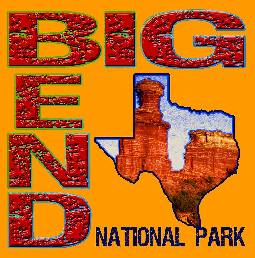 Big Bend National Park Digital Art - Big Bend National Park 1 by David G Paul