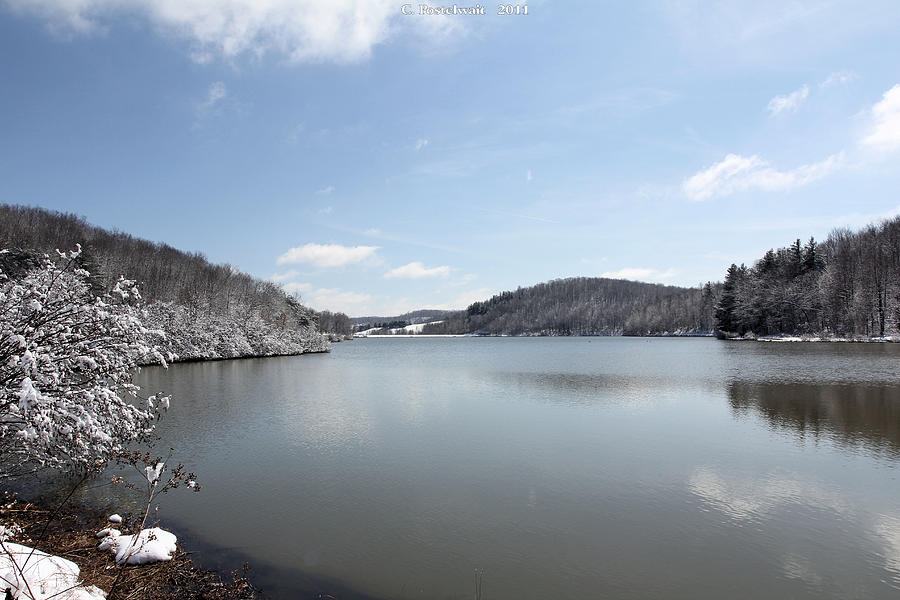 Water Photograph - Big Ditch Lake by Carolyn Postelwait