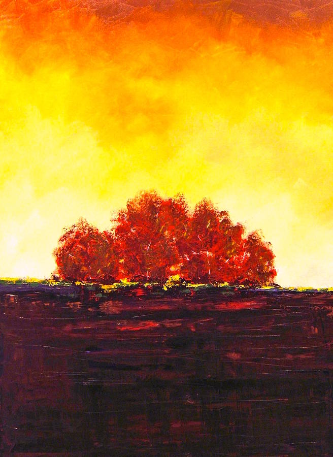 Acrylic Painting - Big Red by William Renzulli