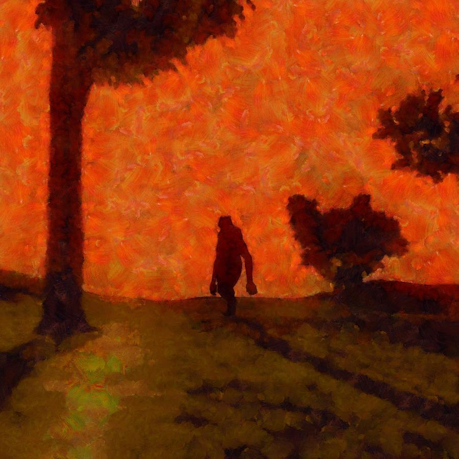 Bigfoot Alone Painting