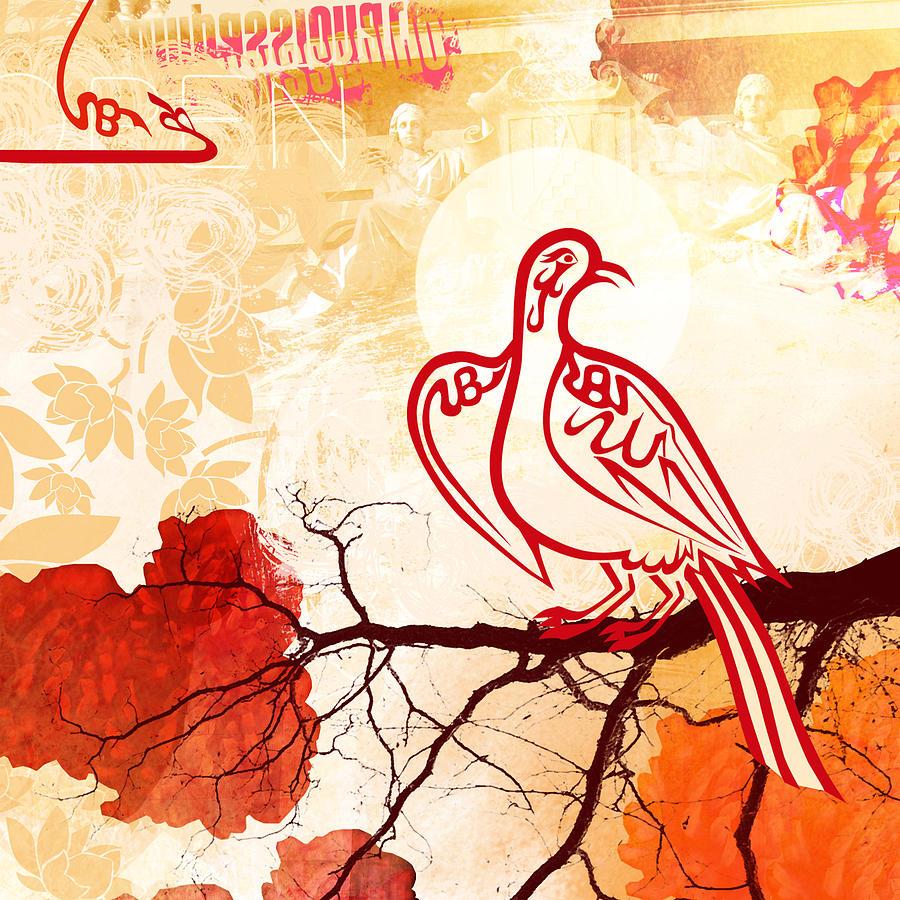 Arabic Digital Art - Bird Of Glory 1 by Misha Maynerick