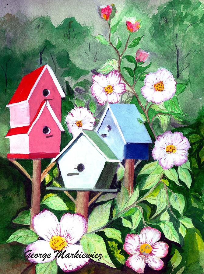 Birdhouse Print - Birdhouse by George Markiewicz