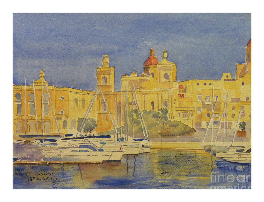 Birgu waterfront by Godwin Cassar