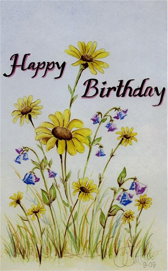 Birthday Card Painting By Jimmy Smith