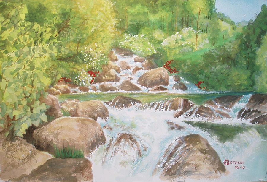 Landscape Painting - Bishop Creek by Charles Hetenyi