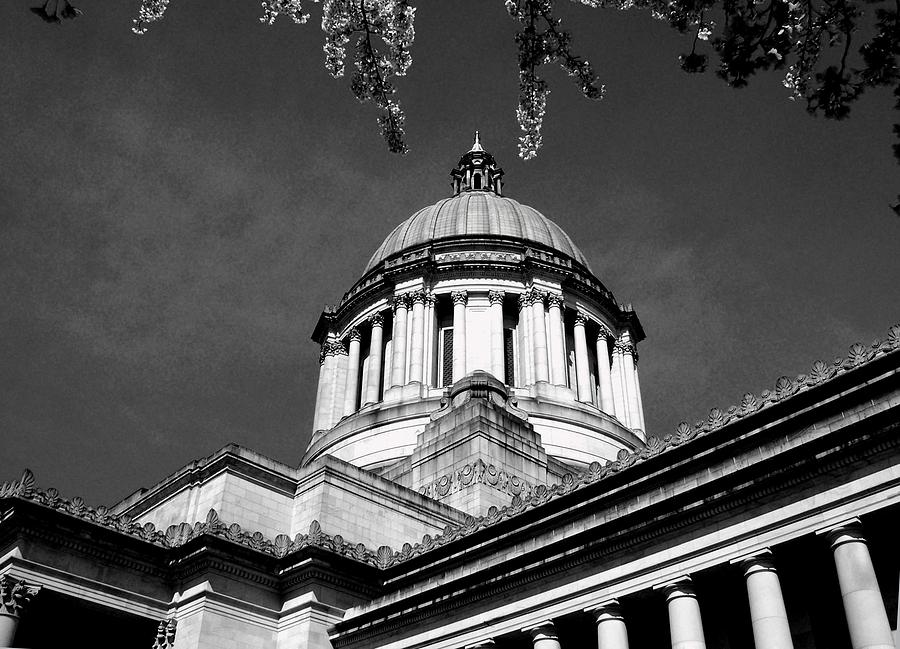Capital Photograph - Black And White by Kevin D Davis