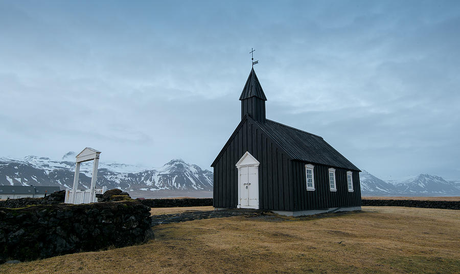 Iceland Photograph - Black Church Of Budir, Iceland by Michalakis Ppalis