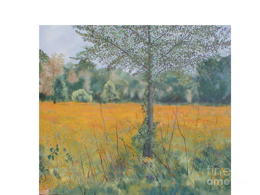 Landscape Painting - Black Eyed Susans by Hal Newhouser