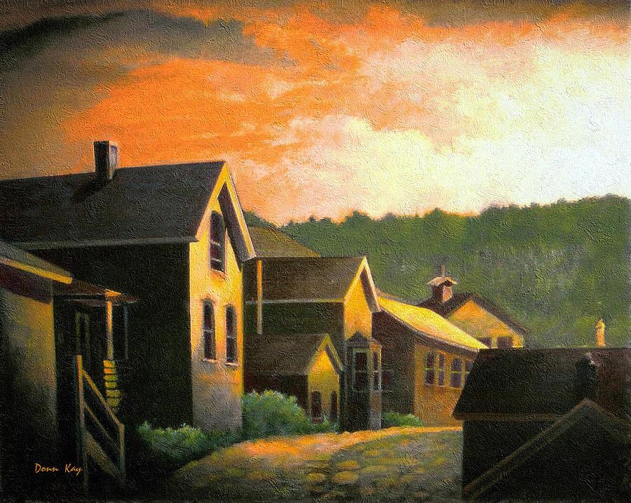 Blackhawk  Colorado Sunset Painting by Donn Kay