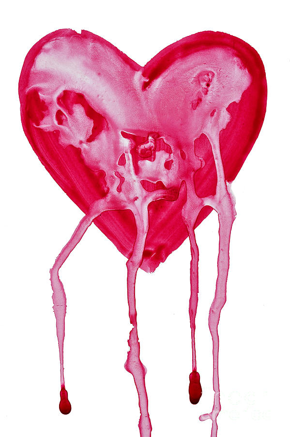 Valentine's Day Painting - Bleeding Heart by Michal Boubin