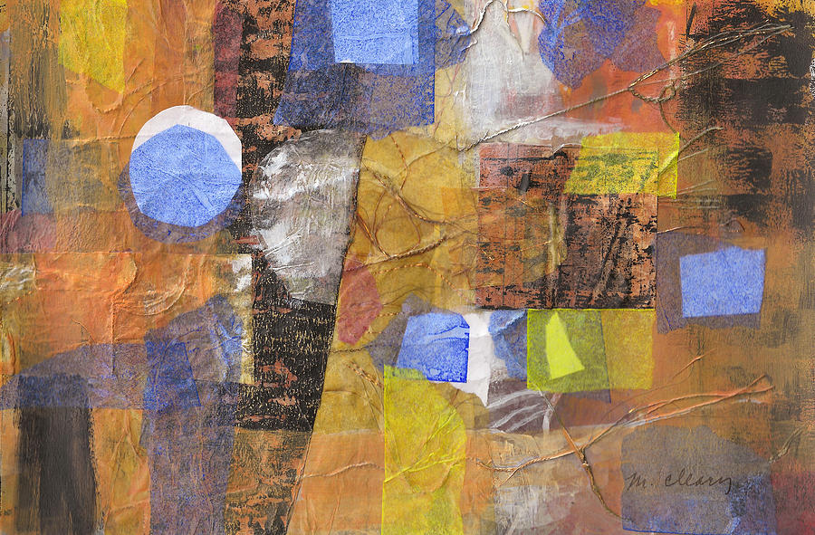 Mixed Media Painting - Blended Fragments by Melody Cleary