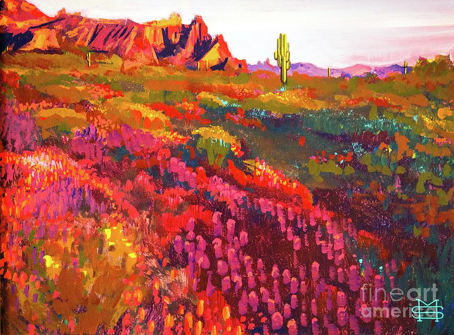 Blooming Arizona Desert by Michael Stoyanov
