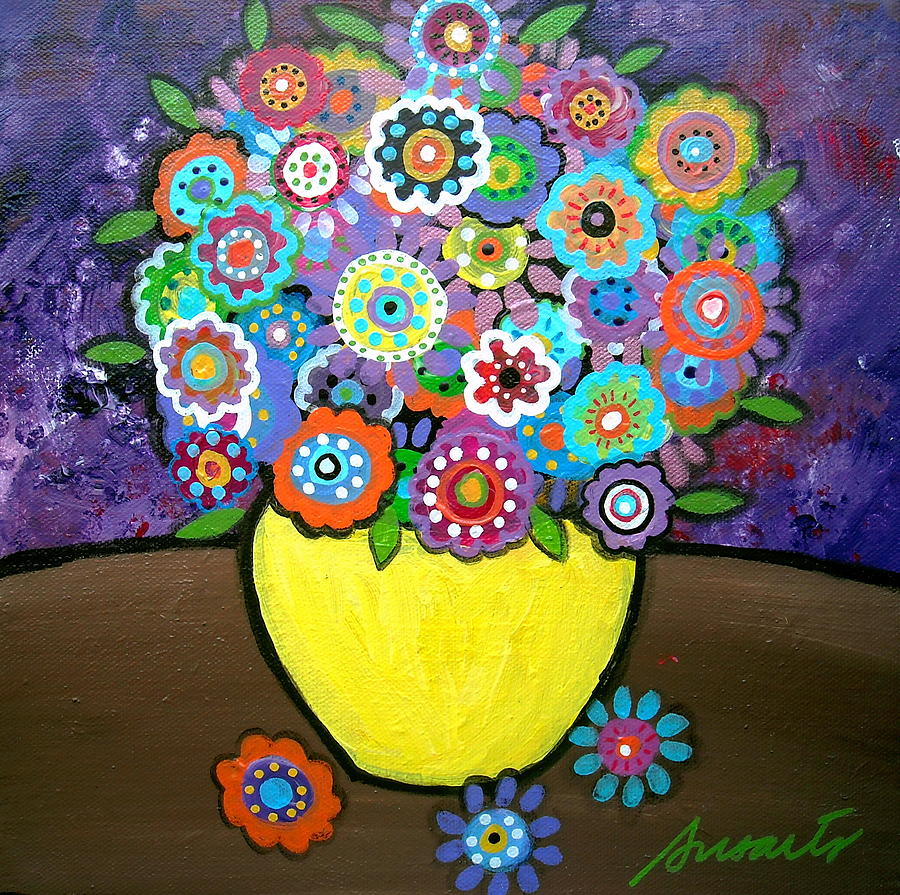 Pristine Painting - Blooms 6 by Pristine Cartera Turkus