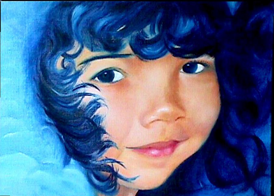 Portrait Painting - Blue Angel by Janine Shideler