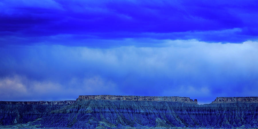 Blue Photograph - Blue Badlands by Johnny Adolphson
