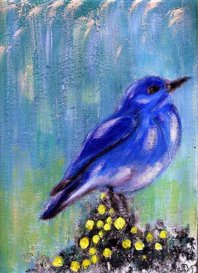 Nature Painting - Blue bird by Joseph Ferguson