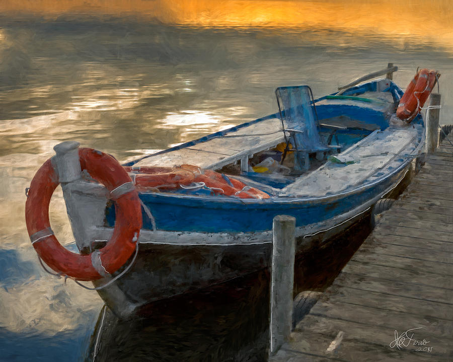 Blue Boat by Juan Carlos Ferro Duque
