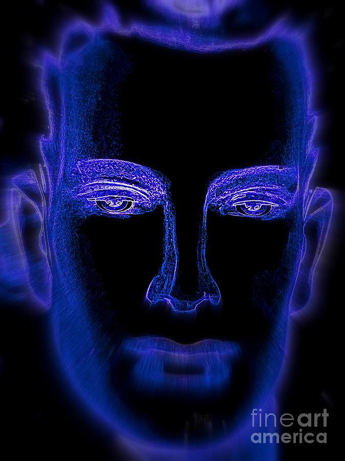 Psychedelic Digital Art - Blue Boy by Ed Weidman