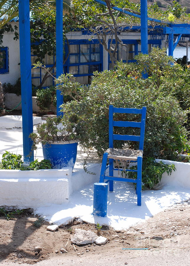 Athens Photograph - Blue Chair by Andrea Simon