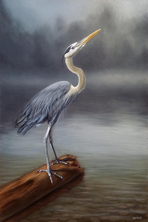Blue Heron by Linda Merchant