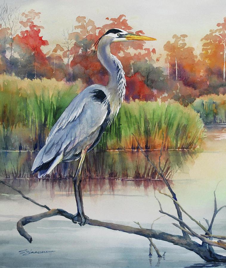 Blue Heron by Sue Zimmermann